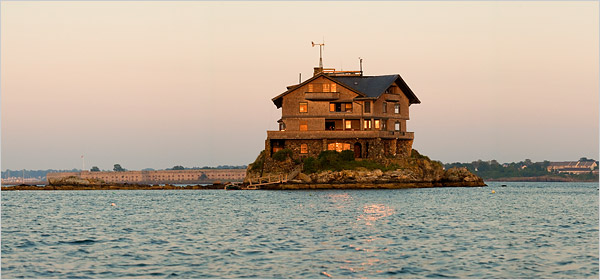 Clingstone House On A Rock Narragansett Bay Off Jamestown From New