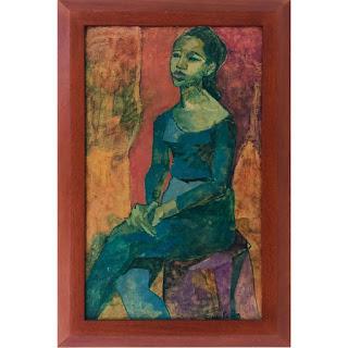 Elsie Rubin Signed Oil Portrait Painting #1