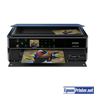 Reset Epson Artisan 720 inkjet printer by application