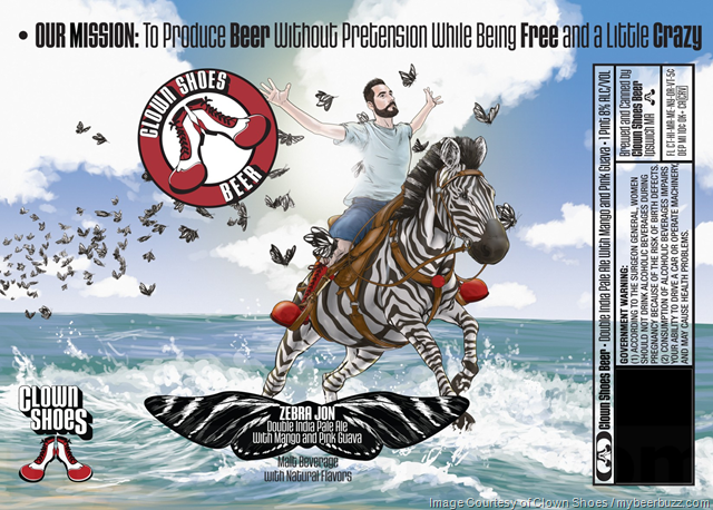 Clown Shoes - Zebra Jon DIPA Bottles & 16oz Cans