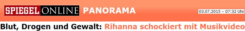 Blut, Drogen und Gewalt: Rihanna schockiert mit Musikvideo