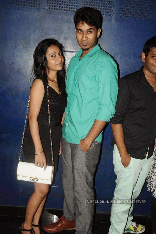 Kamini and Vivek during the party, in Chennai.
