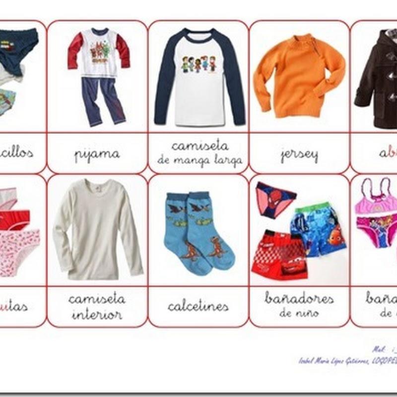 Lotería de la ropa, recursos maestros