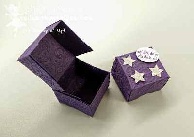Stampin' Up! Give Aways, Goodies, Rocher, Perfekte Pärchen, Brokat, Lacy Brocade, Sterne, Stars, Petite Pairs