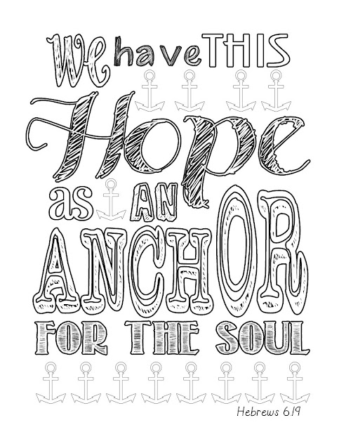 Hebrews  Anchor Coloring Page