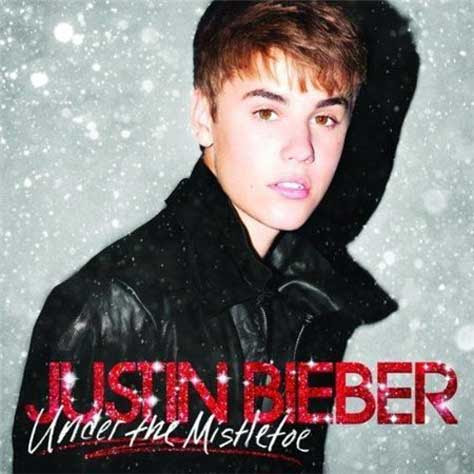 Justin Bieber - portada de Under the mistletoe