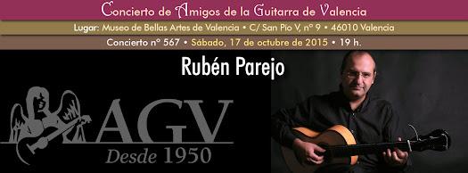 Concierto de Rubén Parejo, en Amigos de la Guitarra de Valencia