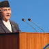 Prime Minister KP Oli proposes a vote of confidence