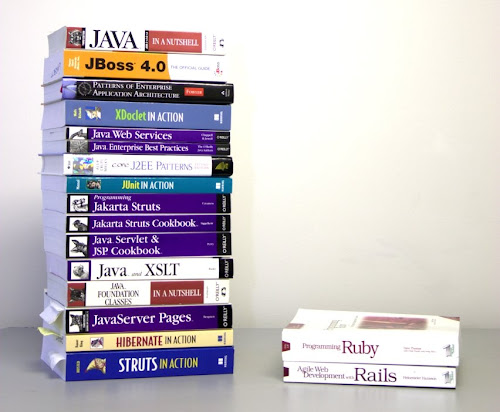 ruby rails vs java book stacks