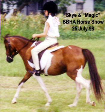 Skye riding Magic - Borderbelt Horseman's Assoc - 1998