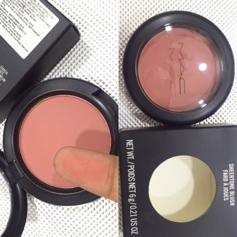 MAC sheertone shimmer blush fard a joues