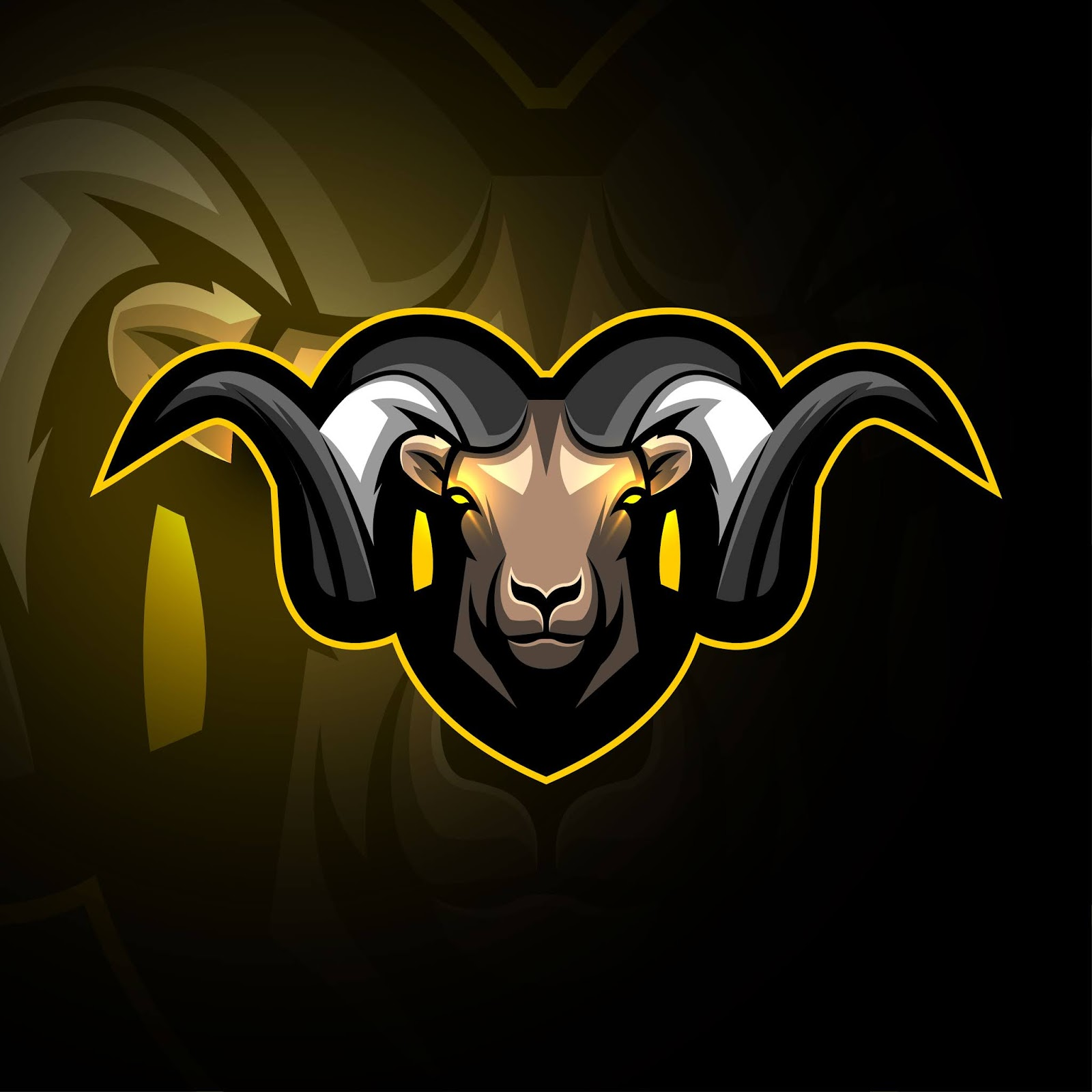 Head Goat Mascot Logo E Sport Design Free Download Vector CDR, AI, EPS and PNG Formats