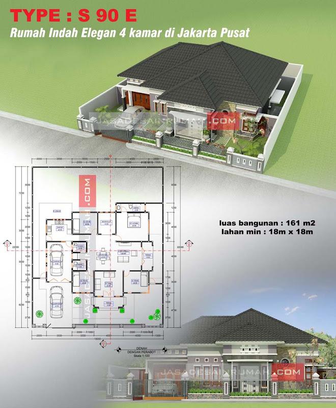 Rumah Indah Elegan 4 Kamar Di Jakarta Pusat Jasa Desain Rumah