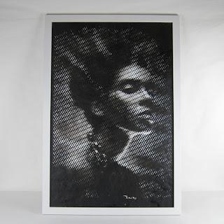 Craig Tinsky Cut Paper Portrait (White Frame)