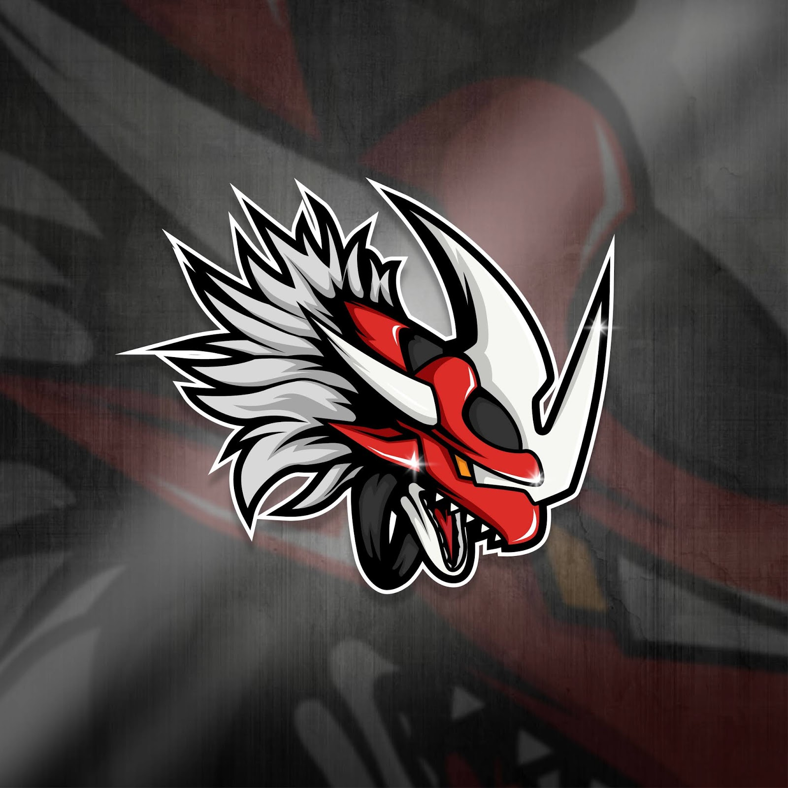 Esports Mascot Logo Team Red Dragpon Squad Free Download Vector CDR, AI, EPS and PNG Formats