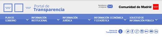 Nuevo portal de Transparencia de la Comunidad de Madrid