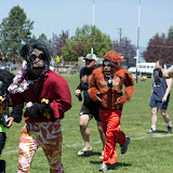 The Hooligan Highwaymen donned gorilla suits after their final game on Sunday.
