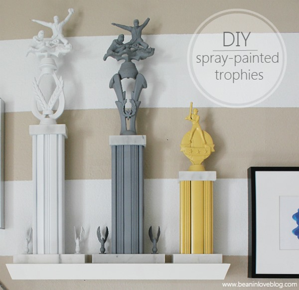 spray-painted trophies