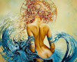 Fantasy Girl In Blue Waves