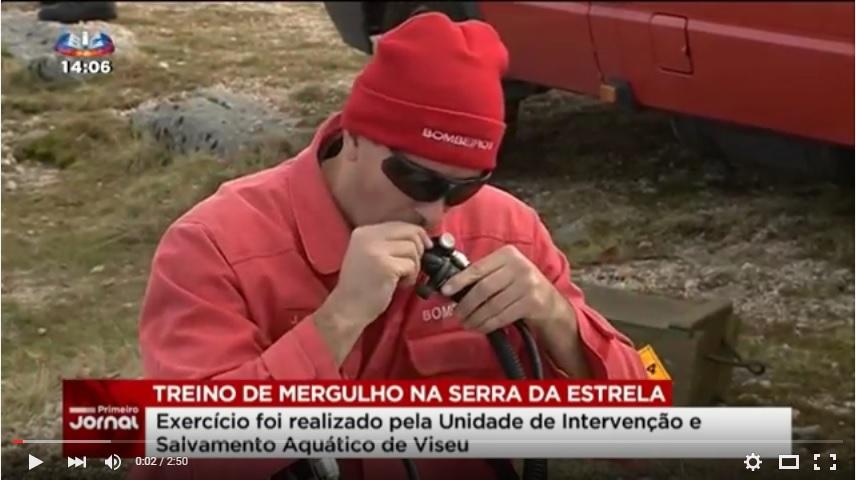 Bombeiros testam capacidade de resposta em caso de acidente na água - SIC