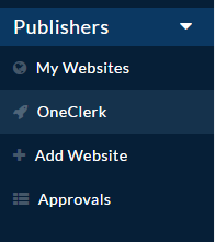 OneClerk dashboard