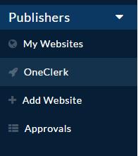 OneClerk dashboard
