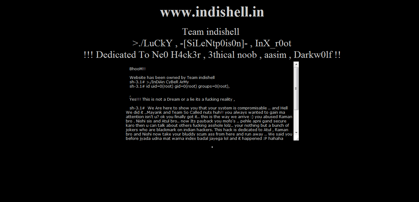 Indian hackers online cyber security news team nuts admins official site defaced by lucky indishell xflitez Images
