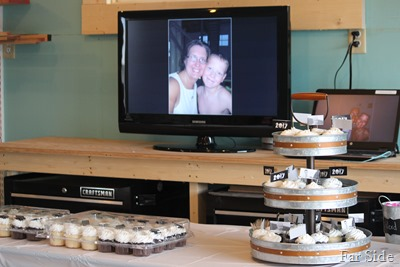 Slide show and cupcakes