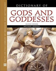 Cover of Michael Jordan's Book Dictionary of Gods and Goddesses