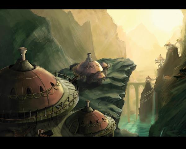 Village In Rocks, Magical Landscapes 2