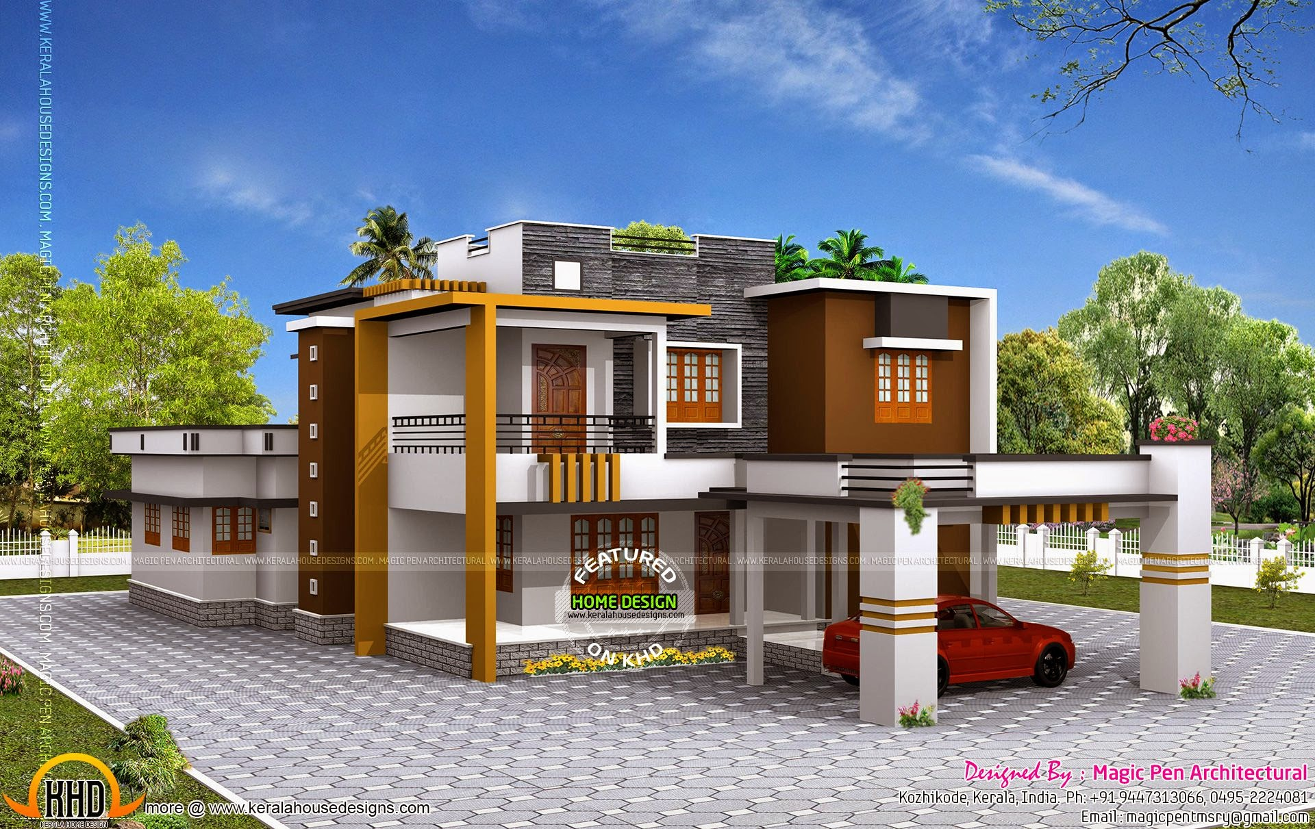 Double storied luxury residence kerala home design and for Home design double floor