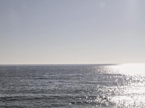 沿岸バス「特急はぼろ号」 夕暮れの日本海