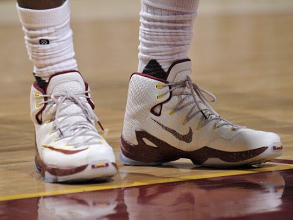 James Laces Up CavsColored Nike LeBron 13 in Game One Win