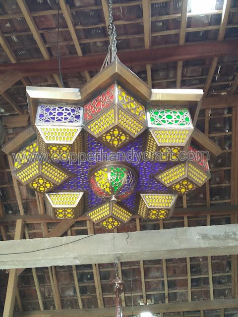 Kerajinan-lampu-gantung-maroko-kuningan-tembaga