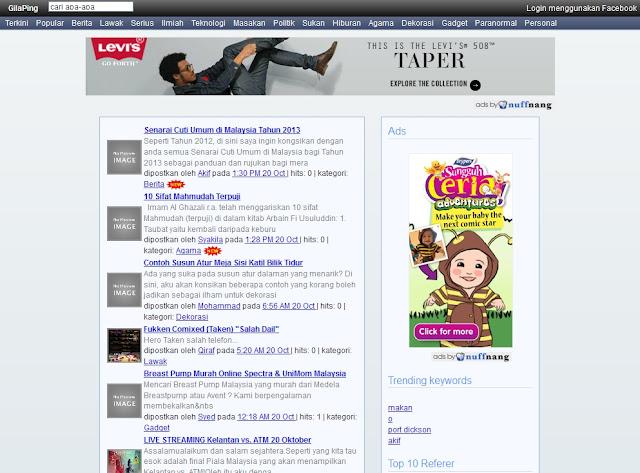 GilaPing.Com Khas Untuk Blogger Mendapatkan Trafik Ke Blog