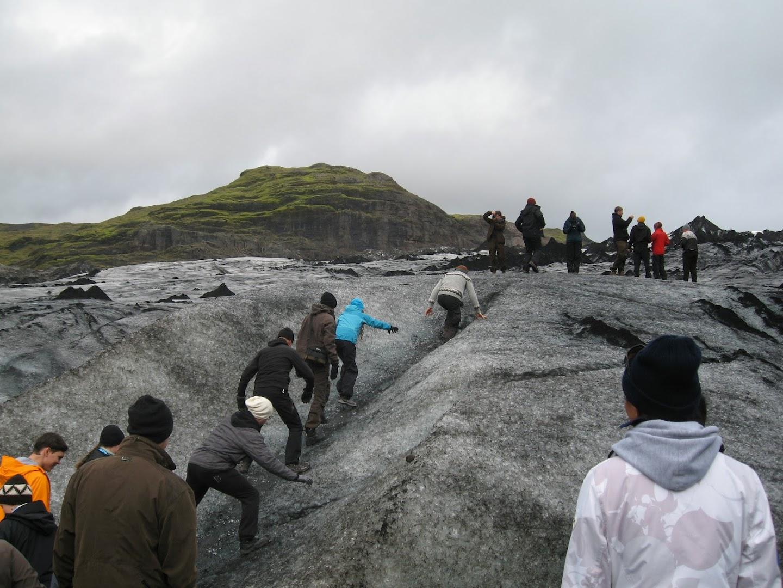 8.9.2013, day 7. Sólheimajökull, Riina