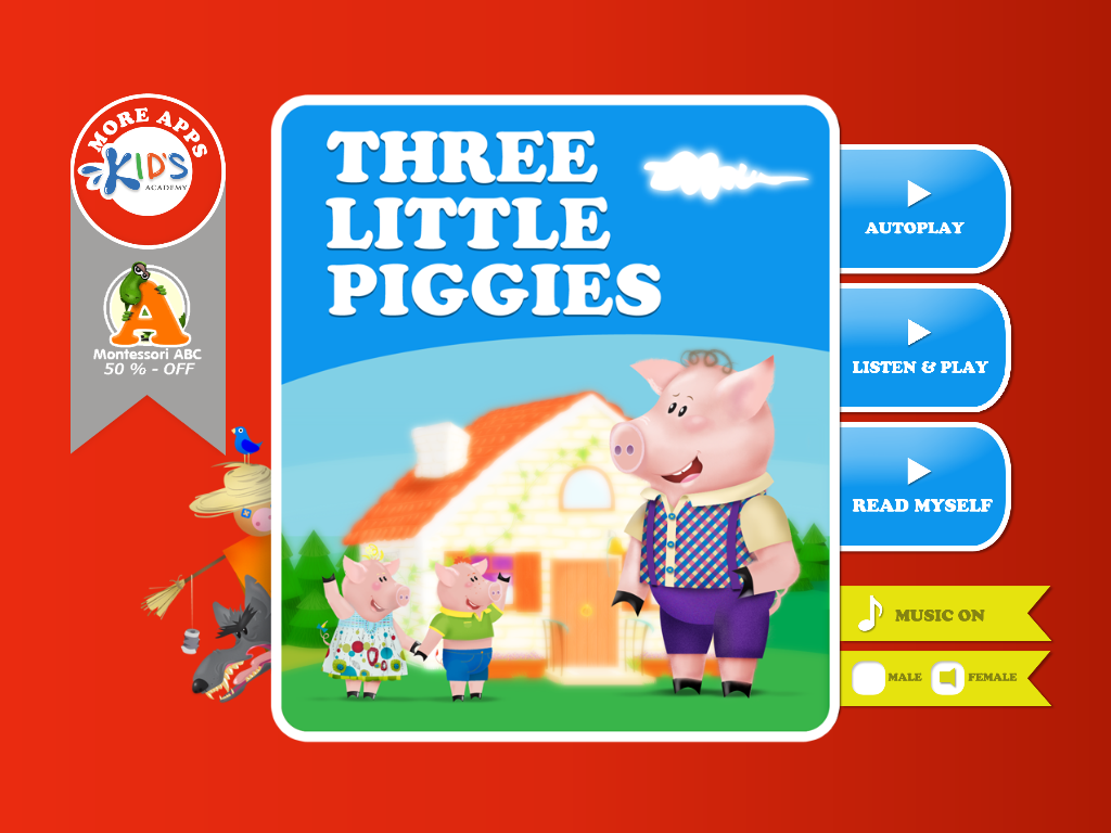 Three Little Piggies Main Page