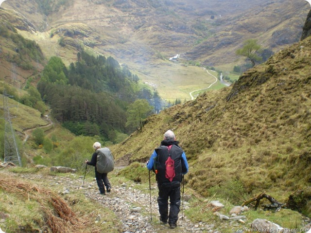 day 2 descending to kinloch hourn