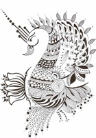 543 Zentangle Bird