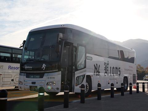 西鉄高速バス「ライオンズエクスプレス」 8546 足柄SAにて その1(H24.11.29)