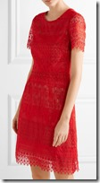Marchesa Notte Red Lace Dress