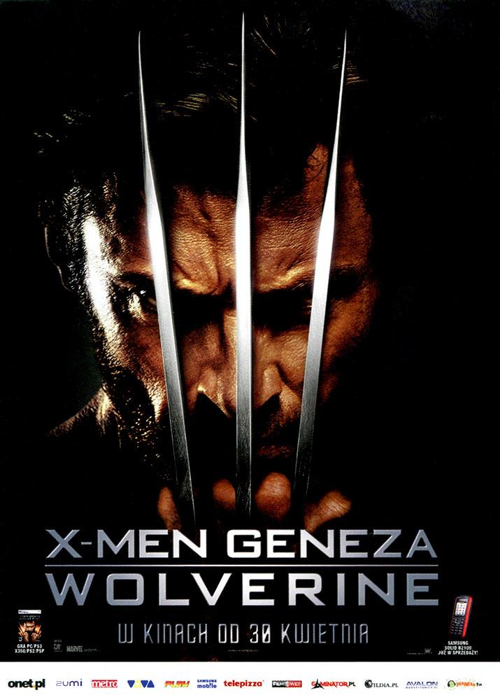 Ulotka filmu 'X-Men Geneza: Wolverine (przód)'