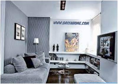 ruang tamu warna kelabu