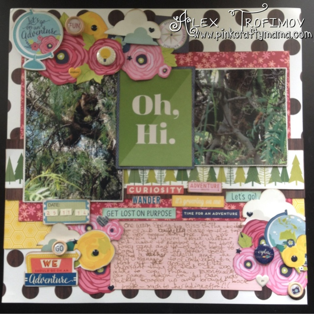 scrapbook scrapbooking page layout shimelle laine american crafts true stories christmas magic starshine go now go collection cat lovers blog hop
