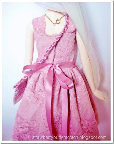 Cute pink lace dress set for a ball jointed doll.