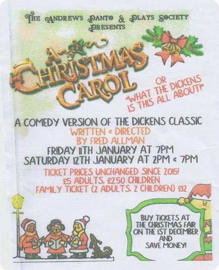 TAPPS - A Christmas Carol - Crewe - 11-12 Jan 2019