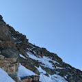 Srednji dio puta prema Aiguille du Goûter (3,863 m)