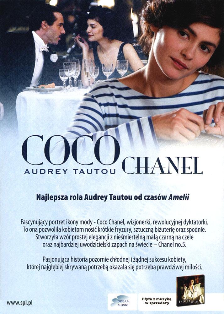 Ulotka filmu 'Coco Chanel (tył)'