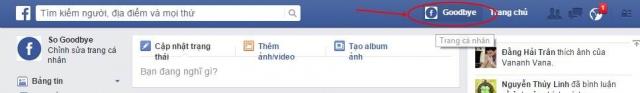 Hình 1 - Cách thay hình đại diện (Avatar) trên Facebook