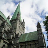 De Nidaros-kathedraal in Trondheim.